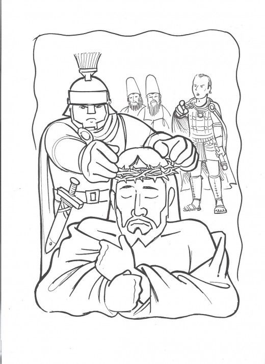 On The Cross Printable Coloring Pages Of Jesus For Kids Jesus