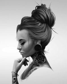 Feito por @wyes.me - - - Aqui você encontra artistas incríveis que selecionamos no instagram =) É artista e quer aparecer aqui? Use #drawing2me ou #tattoo2me