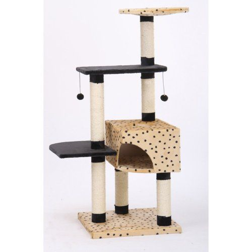 Pet Pals Group Leopard Print Cat Furniture   Square Eco Friendly Cat  Furniture Made With