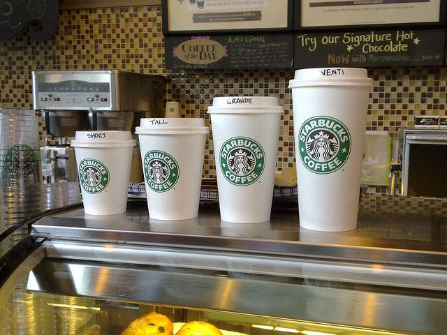 Australian Starbucks cup sizes by andrewgrill, via Flickr | Coffee ...