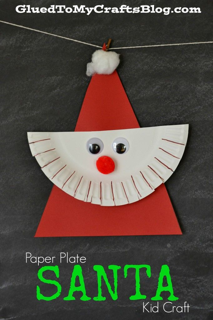 Paper Plate Santa Kid Craft & Paper Plate Santa Kid Craft | Santa Crafts and Activities