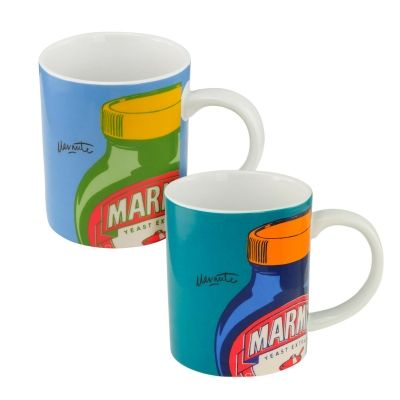 Marmite Set of 2 Mugs: Blue and Teal | Past Times £18.00 #Marmite ...