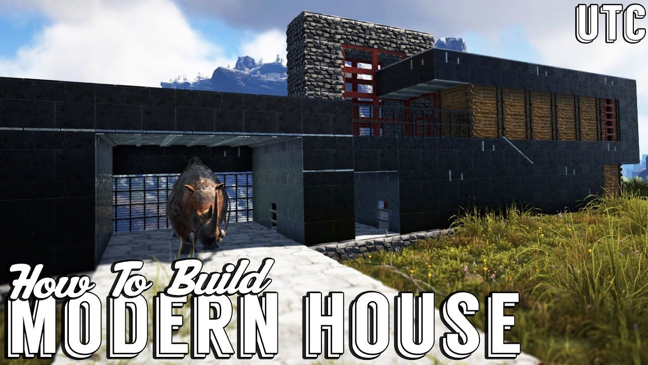 Ark modern house w dino garage how to build an ultra modern house in ark metal house tutorial garage workbench 89799689 gas station decor