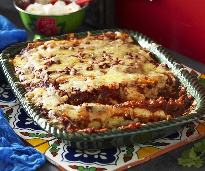 Chicken enchiladas #todieforchickenenchiladas The old tradition of wrapping a corn tortilla around a tasty filling dates back to the Maya civilisation. These classic and delicious chicken enchiladas will make you thankful that old habits die hard. #todieforchickenenchiladas
