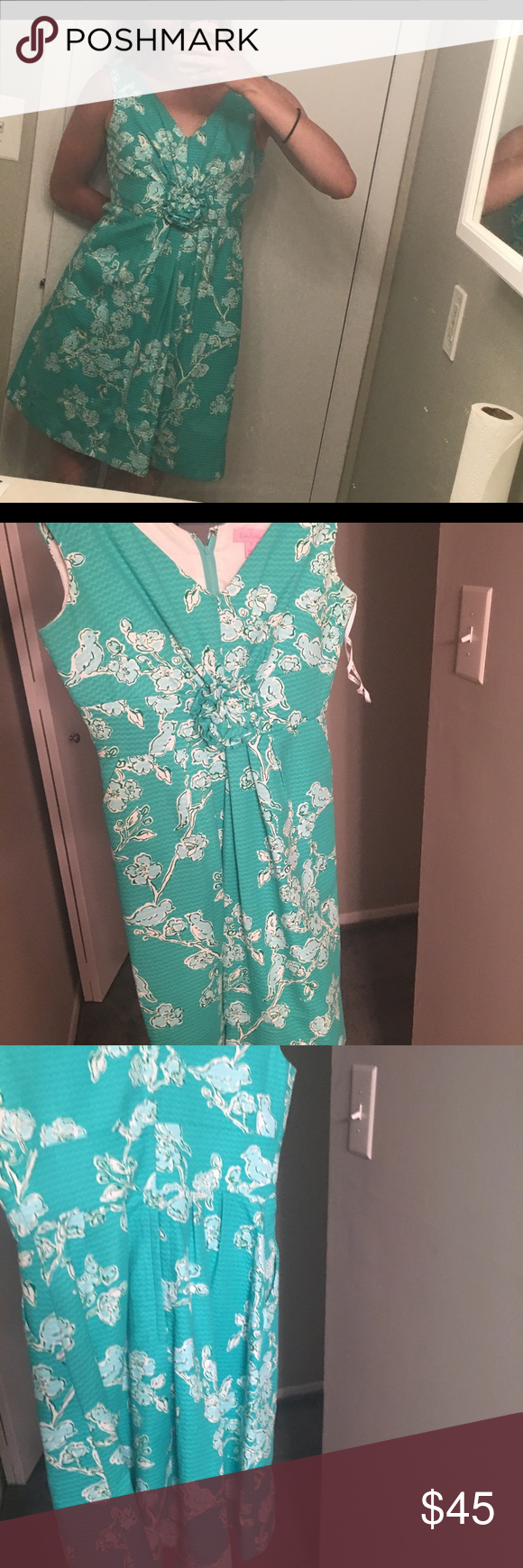 Lilly Pulitzer Garden Party Dress | Blue green, Customer support and ...