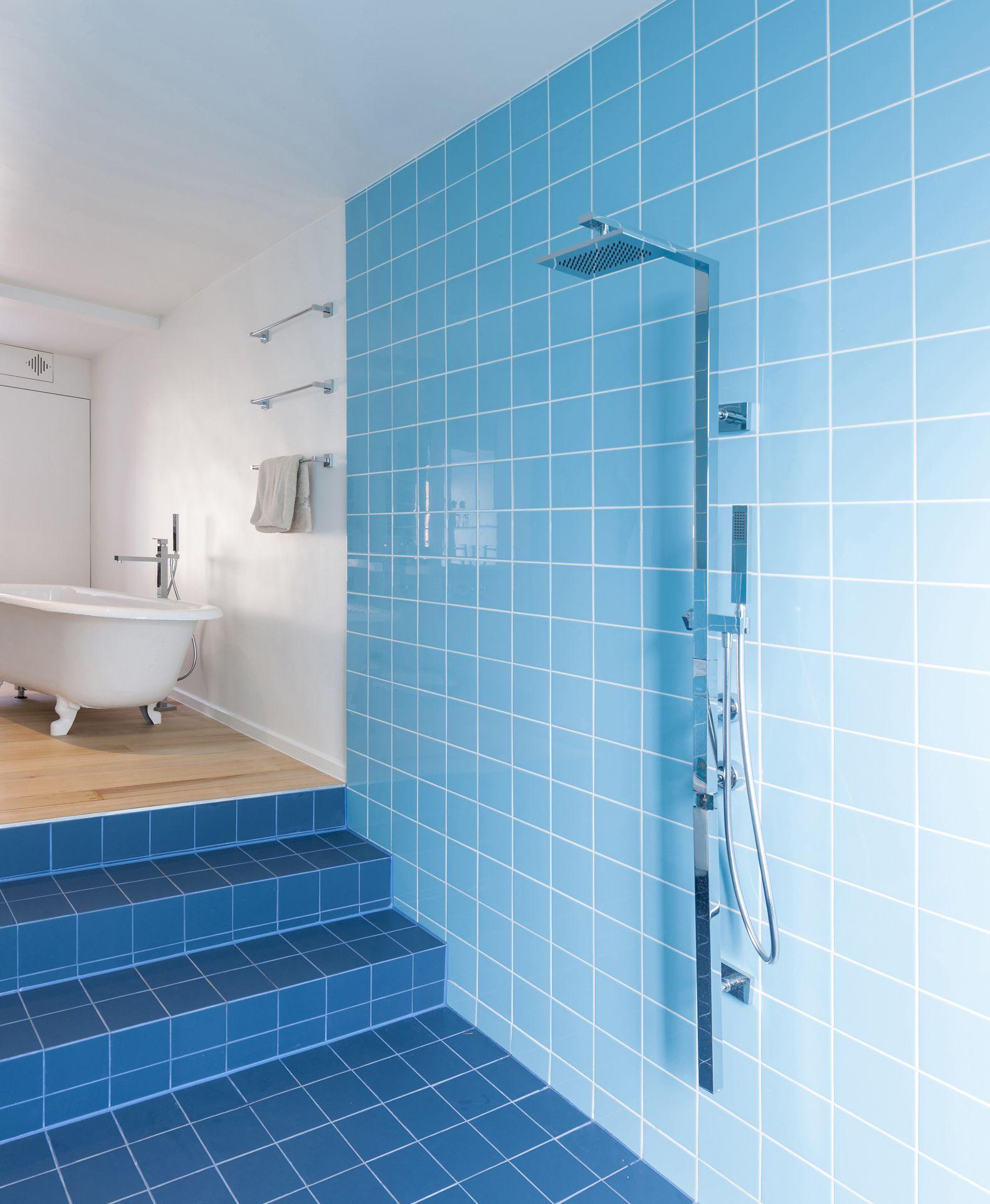 concrete5 :: Referenzen Blaue Fliesen Kinderbad   Badezimmer ...
