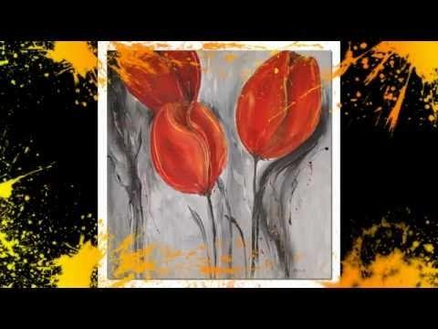 Acrylmalerei Tulpen Demo Acrylic Painting Tulips Peinture