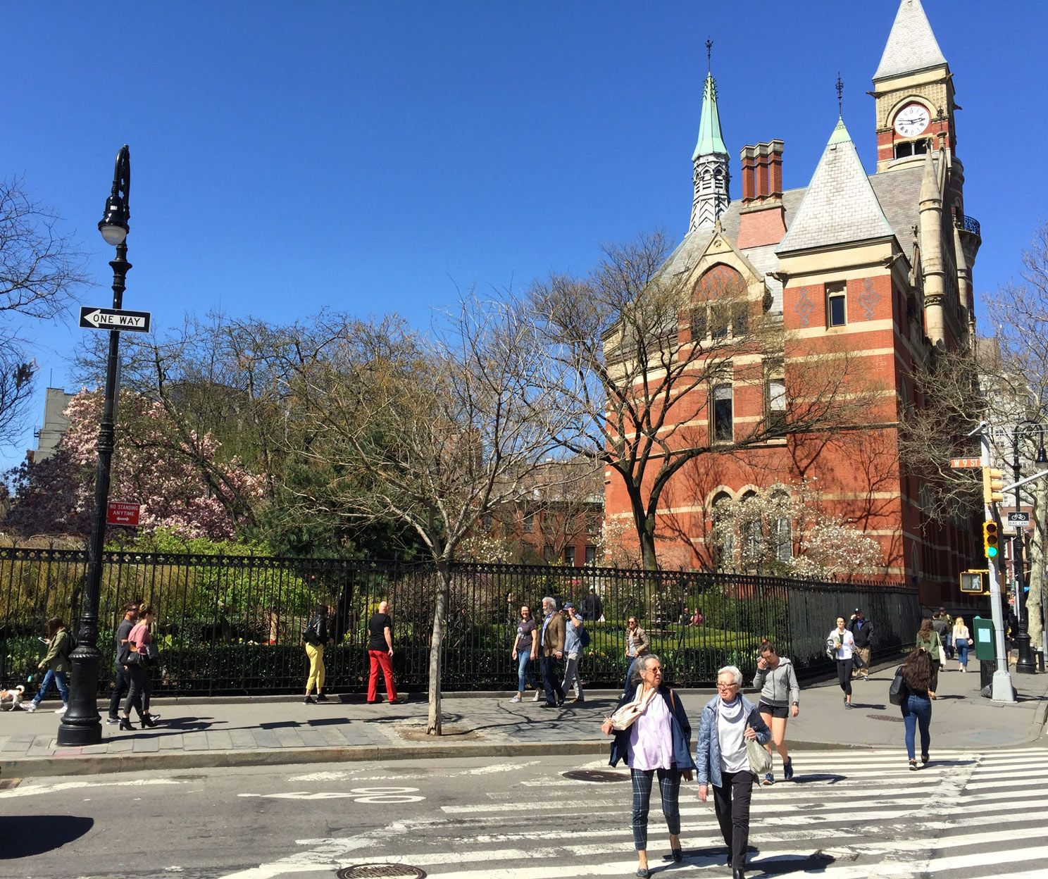 Spring in New York City's Jefferson Market Garden and