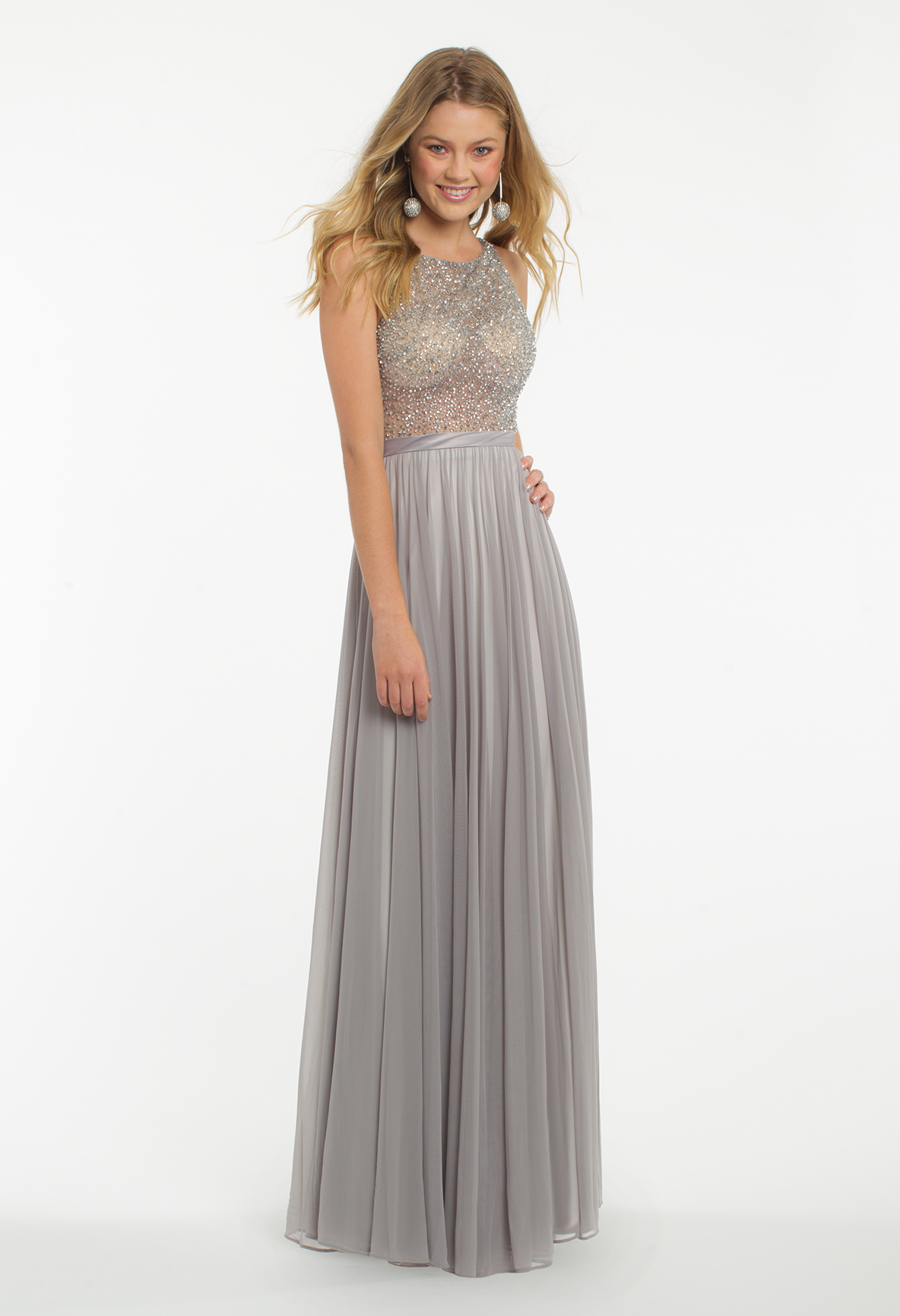 Dazzle on the dance floor in this beautiful prom dress the features