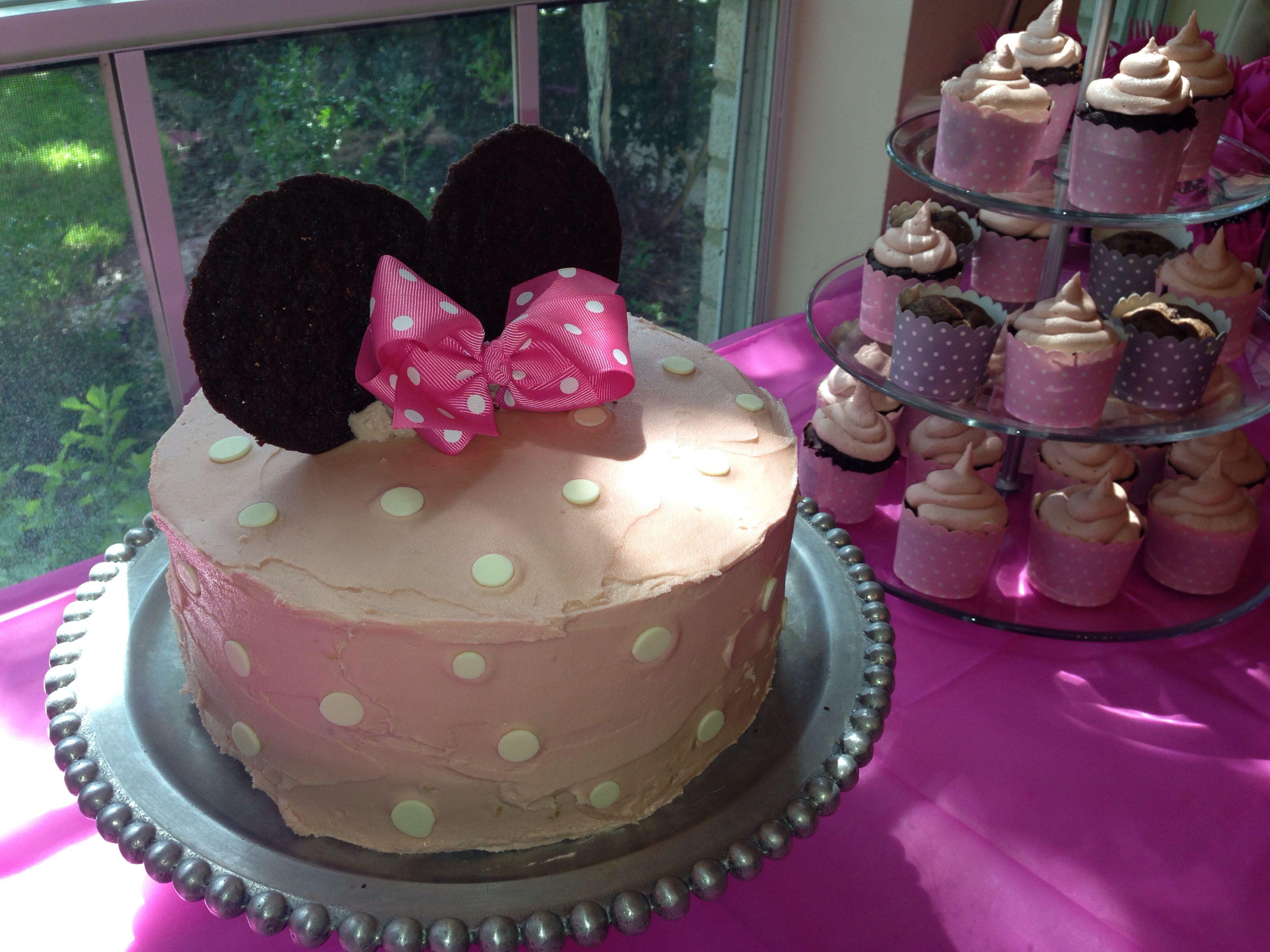 Minni mouse cake Vanilla buttermilk cake- smitten kitchen recipe MS ...