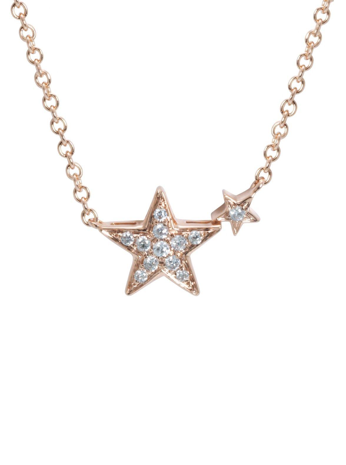 Djula joaillerie 18k rose gold and diamond star pendant necklace at djula joaillerie 18k rose gold and diamond star pendant necklace at london jewelers aloadofball Gallery
