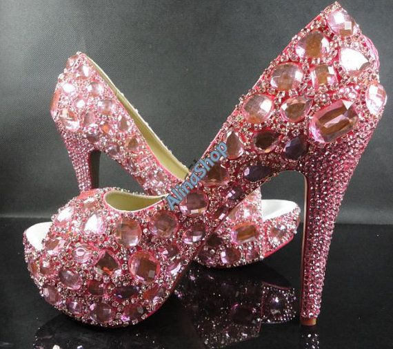 Pin By Whitney Michelle On Shoes Pink Wedding Shoes Pink Sparkly Heels Womens Wedding Shoes