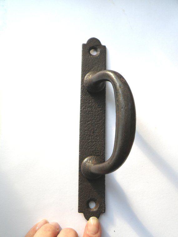 Industrial Iron Door Handle Antique Rustic Cast Gate Towel Racks DIY Holder Architectural & Garden