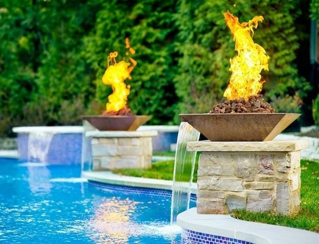 54 Garden Water Features Awesome Outdoor Design Ideas Backyard Pool Landscaping Pool Water Features Pool Remodel