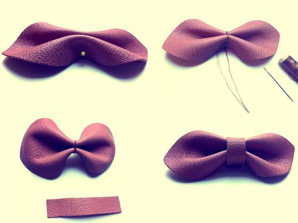 Top broche-noeud cuir | Crafts | Pinterest | Broche, Noeud et Cuir AE08
