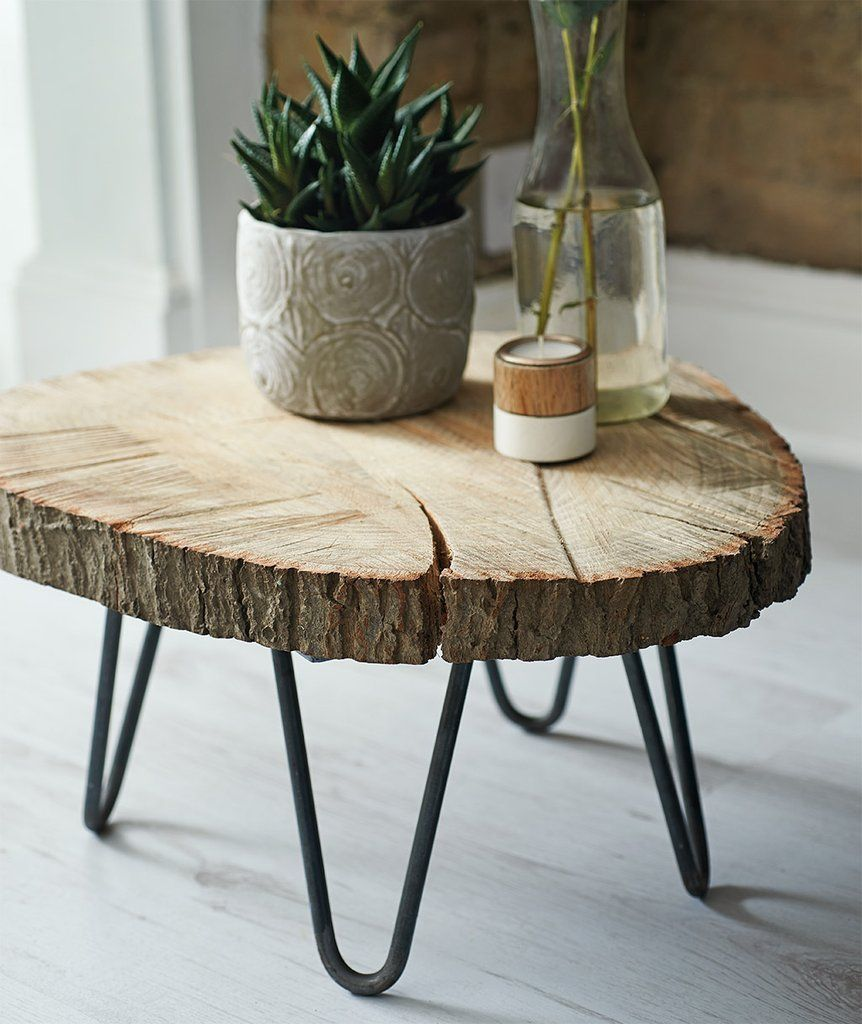 Diy tree slab coffee table in 2020 diy coffee table