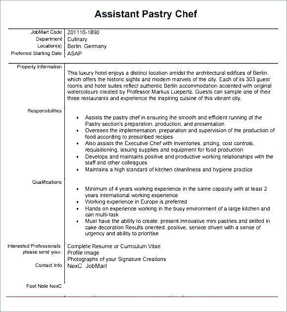 Sample Resume For Job Cook Sample Resume Qualifications For Pastry Chef Pastry Chef Resume Job Resume Ex Job Resume Examples Job Resume Format First Job Resume