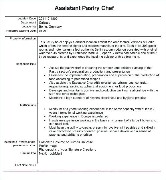 Sample Resume For Job Cook Sample Resume Qualifications For Pastry Chef Pastry Chef Resume Job Resume Ex Job Resume Format Job Resume Examples First Job Resume