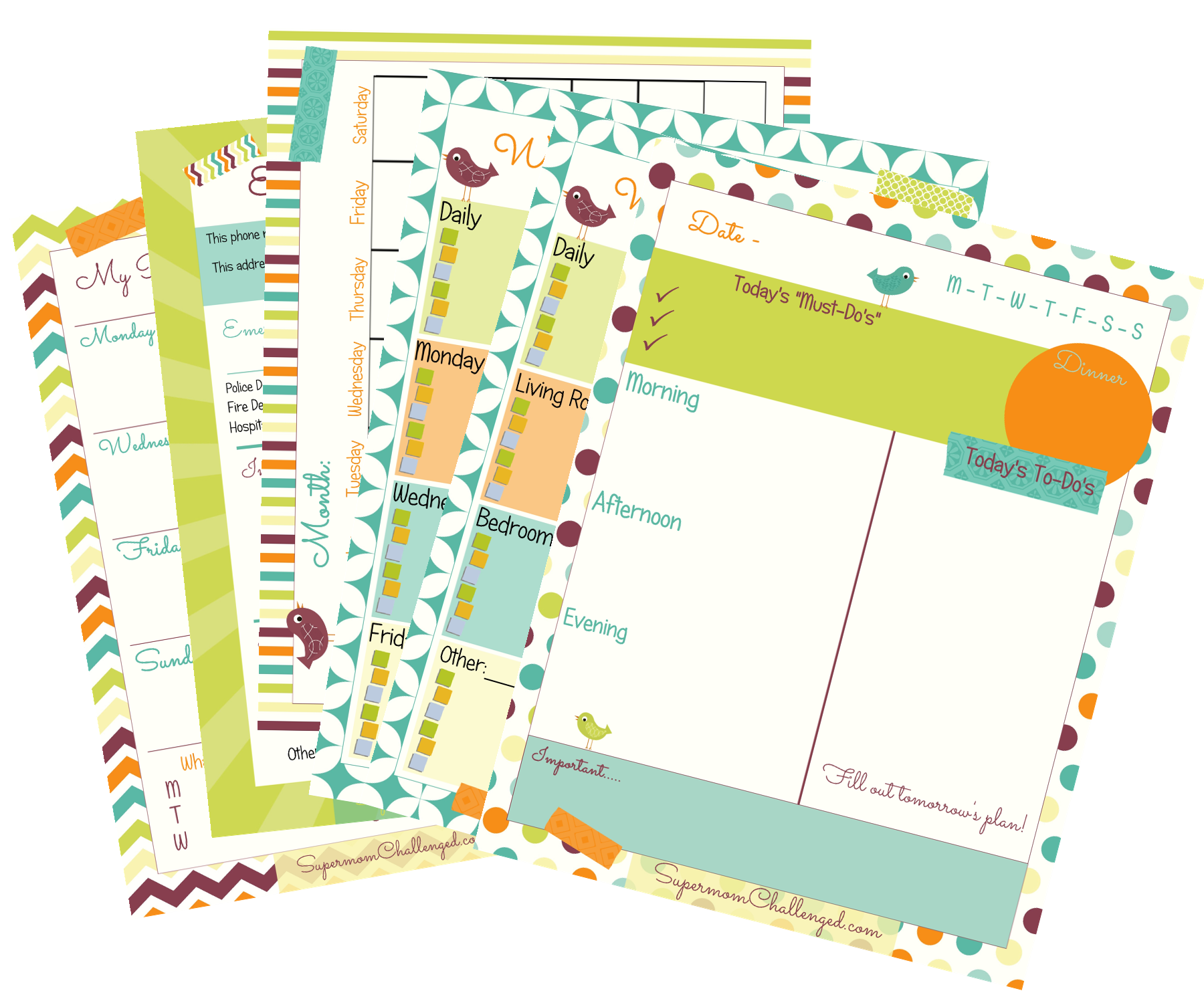 More Free Home Organization Printables