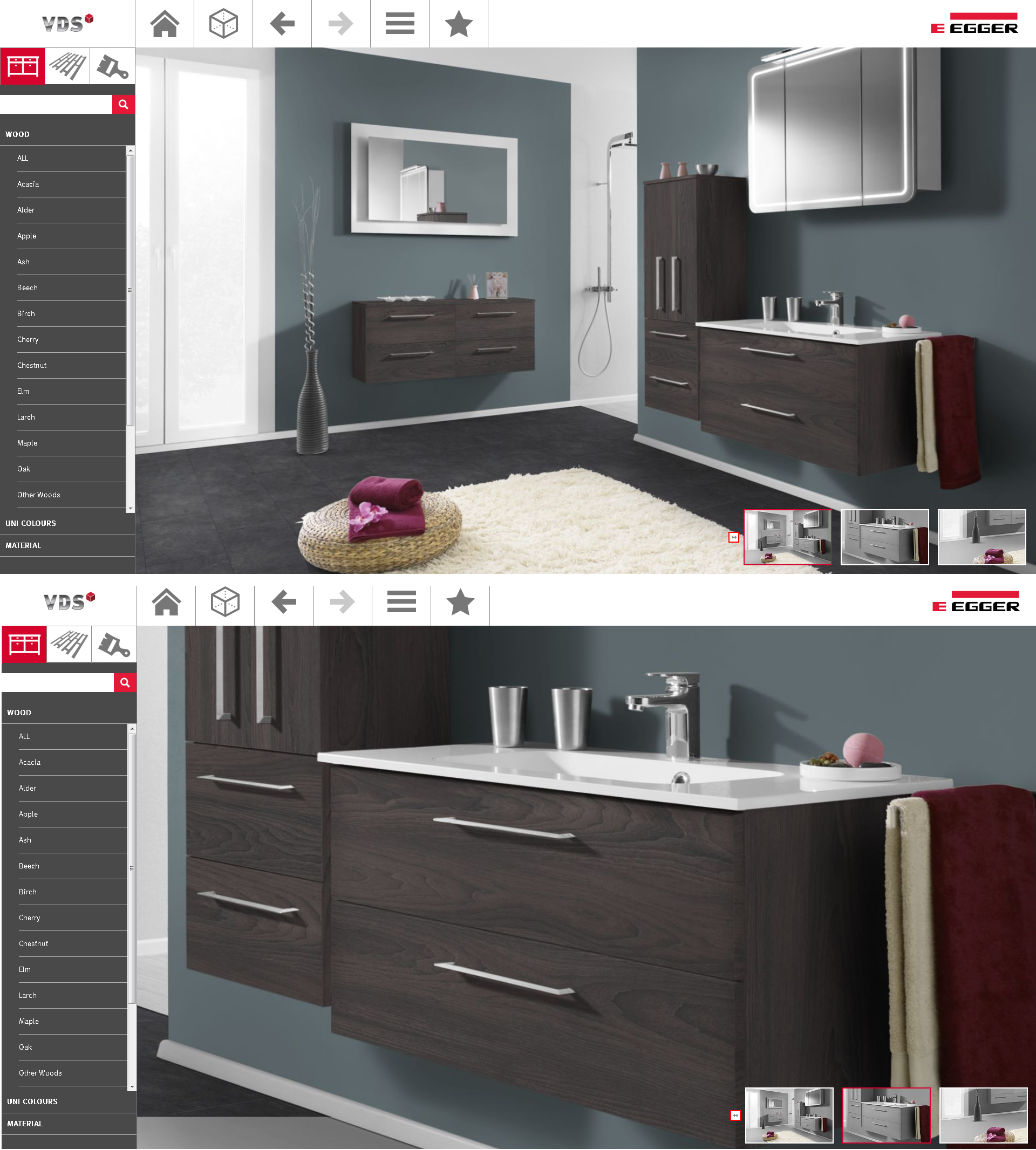 Bathroom Design Visualiser within our online visualiser, we have a bathroom roomset which can