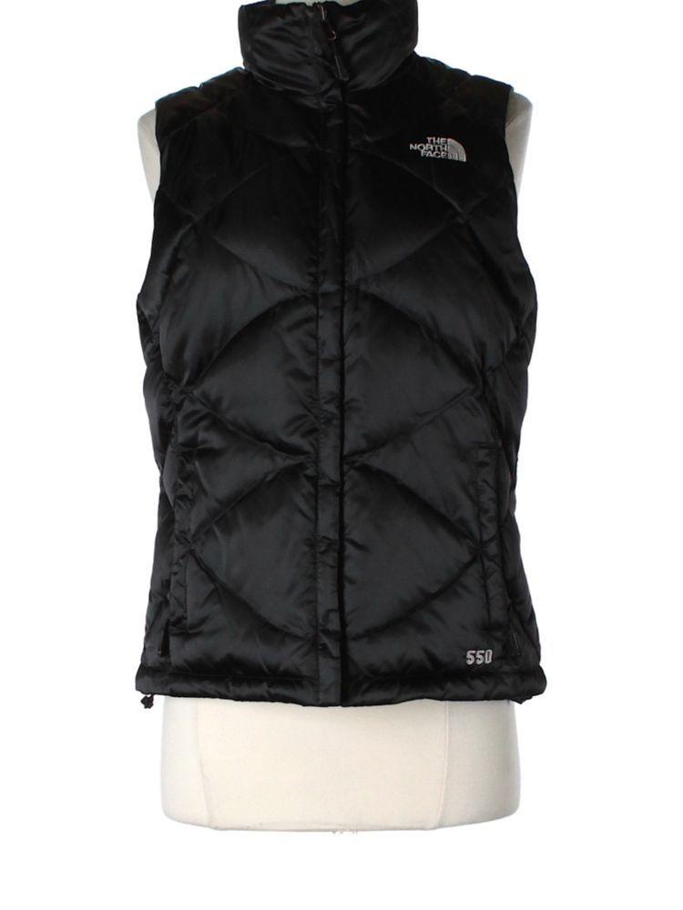 Women The North Face Black Aconcagua 550 Down Vest Fall Winter Jacket Size  S  TheNorthFace  Vest a2378749c