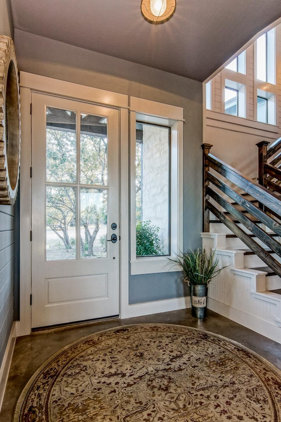 blue contemporary country farmhouse with reclaimed wood on gorgeous modern farmhouse entryway decorating ideas produce a right one id=20812