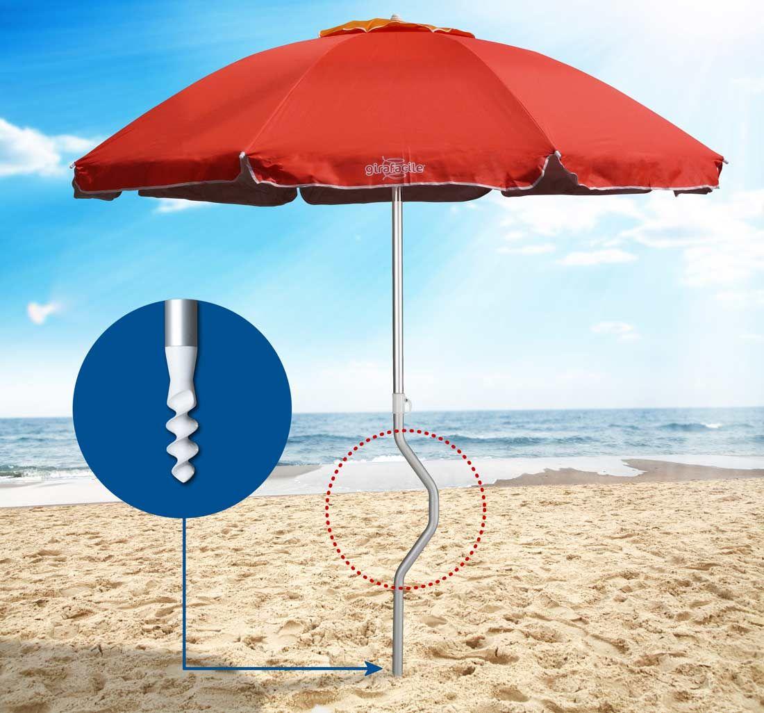 Ombrellone Per Spiaggia Mare 220cm Girafacile Con Protezione Uv Eolo Parasol Plage Parasol Parasols