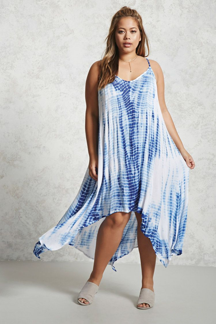 plus size tie-dye cami dress | shoppy | pinterest | neckline, 21st