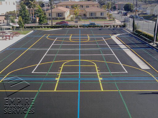 Game court striping sports painting playground markings for Diy sport court