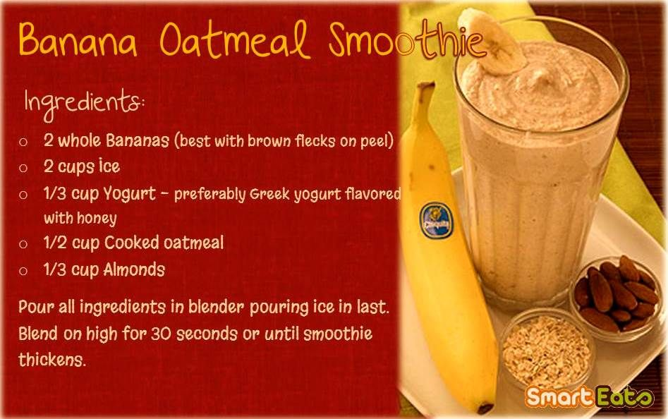 Banana Oatmeal Smoothie makes a healthy breakfast option.