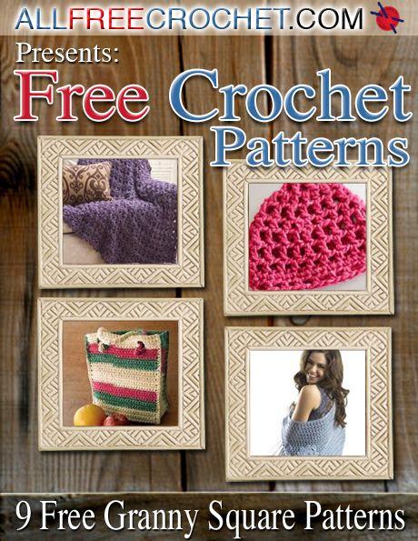 Crochet Granny Squares 9 Free Crochet Afghan Patterns Free