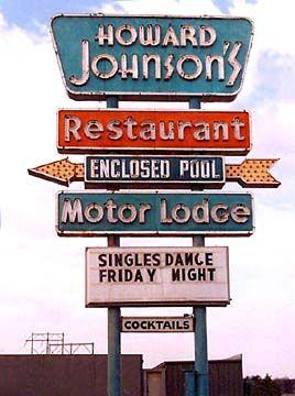 howard sign Vintage johnson