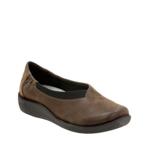 Sillian Jetay Khaki Synthetic Nubuck Womens Wide Width Http Www Clarksusa Com Us C Sale Womens Shoes Clarks Shoes Clarks