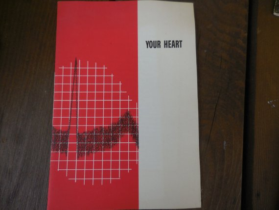 Vintage 1950s Your Heart Booklet Pamphlet Medical Mid Century