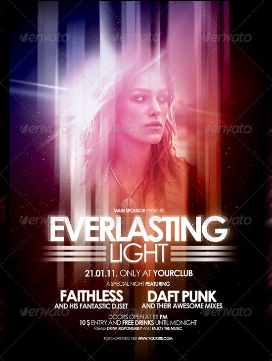 nightclubflyerpostervol4 DESIGN Pinterest – Night Club Flyer
