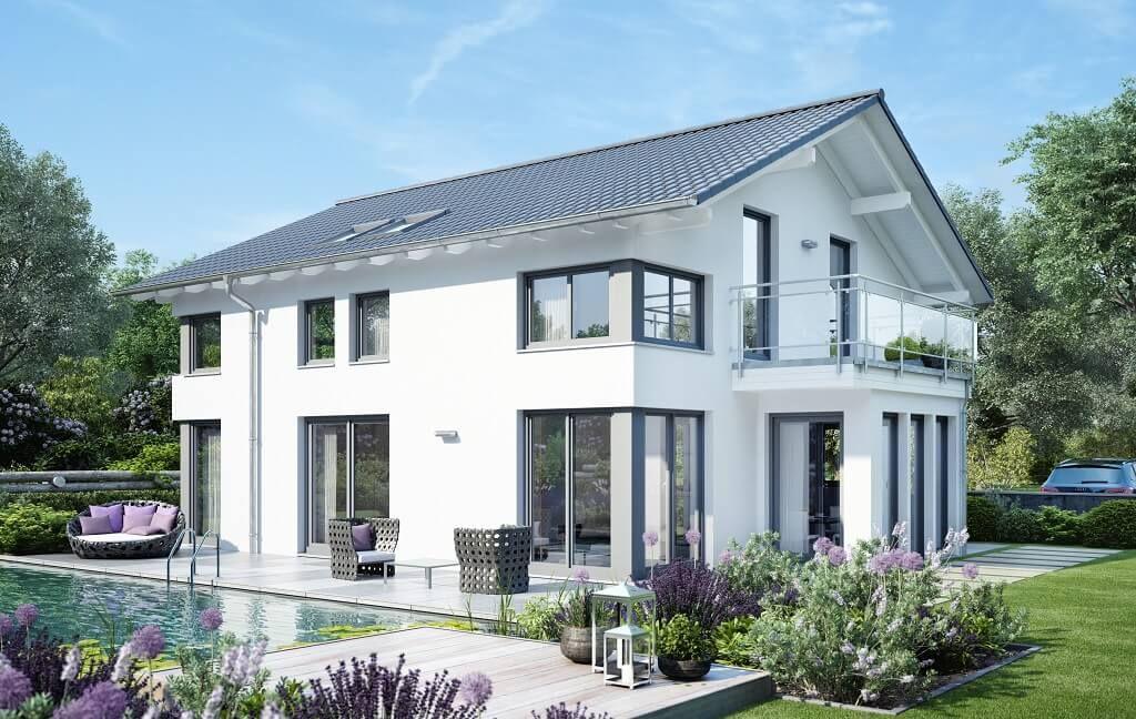 Bien Zenker, Modernes Wohnen, Haus Bauen, Moderne Architektur, Diele,  Grundrisse, Balkon, Einrichtung, Garten
