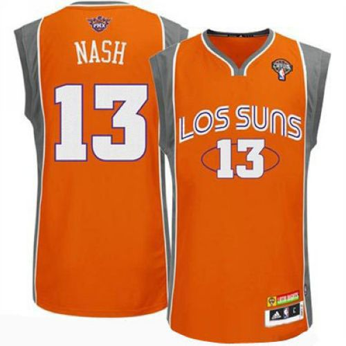 2773ded83 Adidas Phoenix Suns 13 Steve Nash Orange Latin Nights NBA Jerseys ...