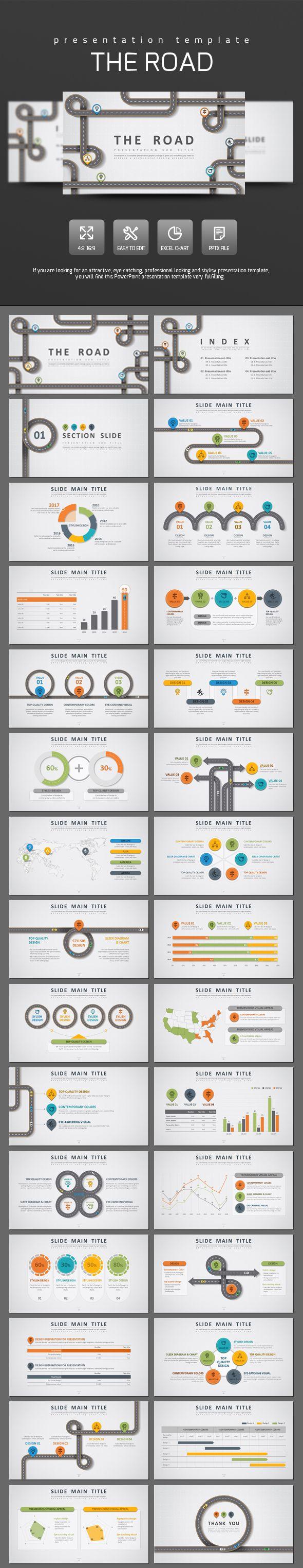 Road PowerPoint Template   Grafiken