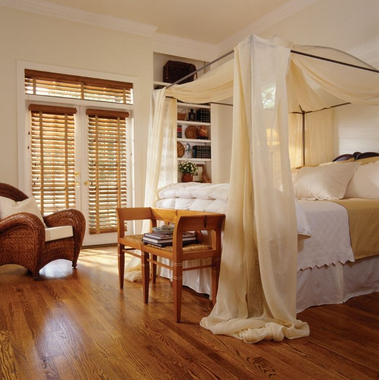Wood blinds on doors and transom window window blinds for Blinds for bedroom windows