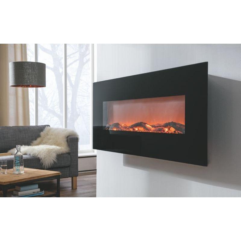 voltomat heating elektri ni kamin flat crni wohnzimmer. Black Bedroom Furniture Sets. Home Design Ideas
