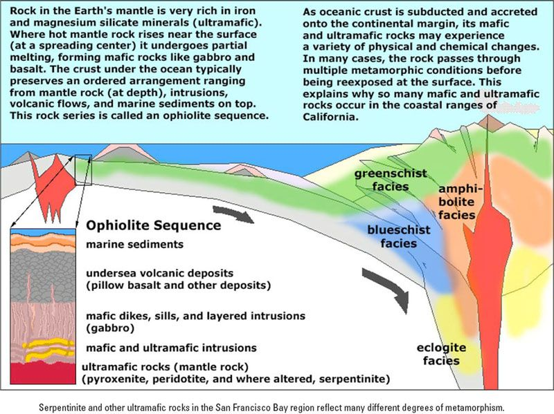 Metamorphic facies and plate tectonics; also, ophiolite