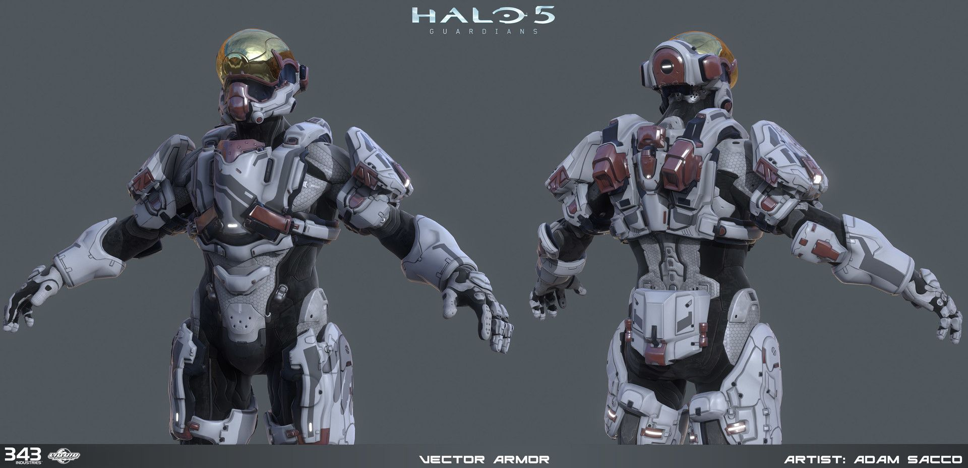 ArtStation - Halo 5 - Vector armor - 3d game model, Adam Sacco
