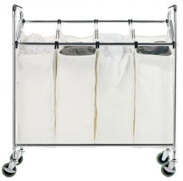 Chrome Quad Laundry Sorter General Organization Storage And