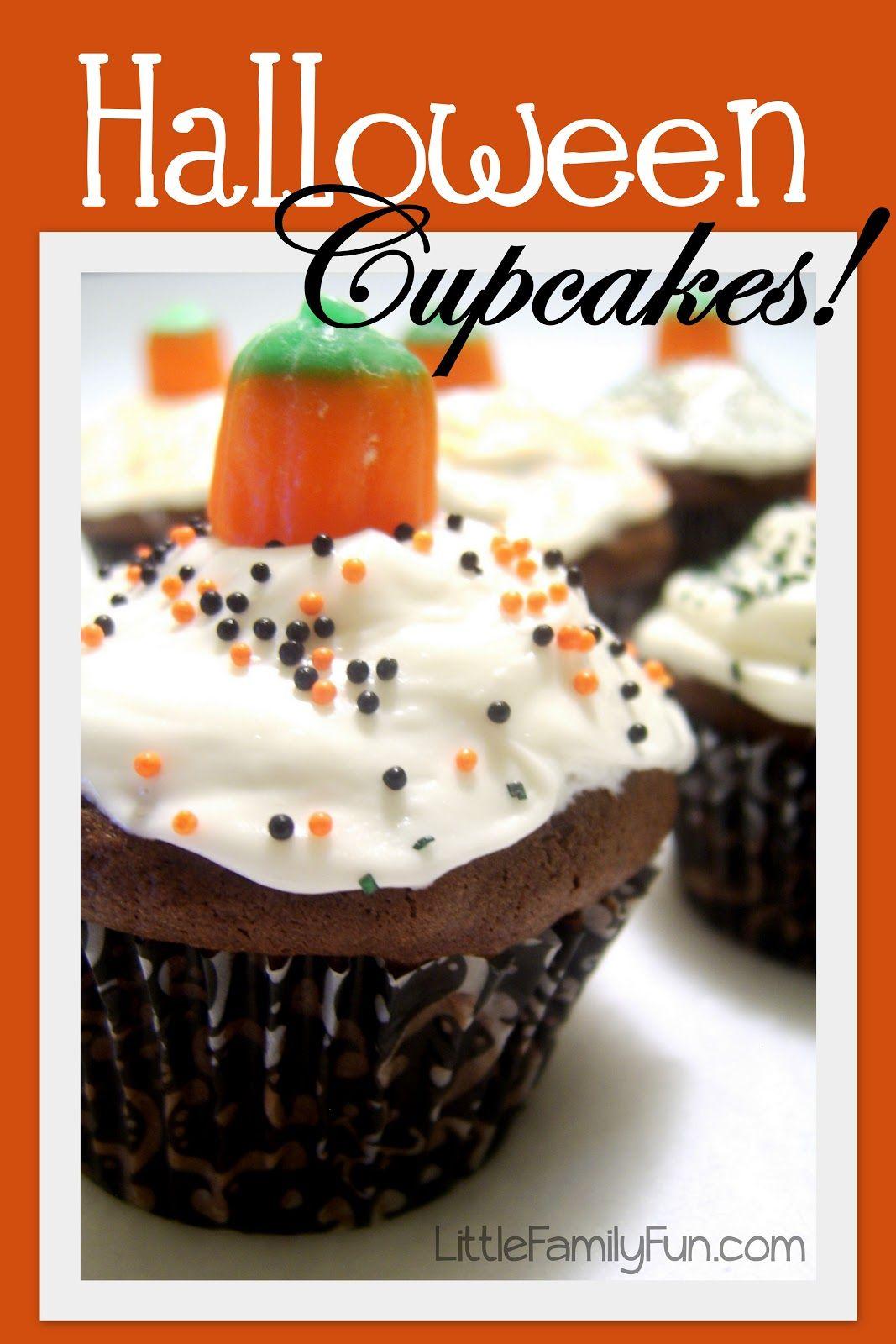 family fun halloween cupcakes