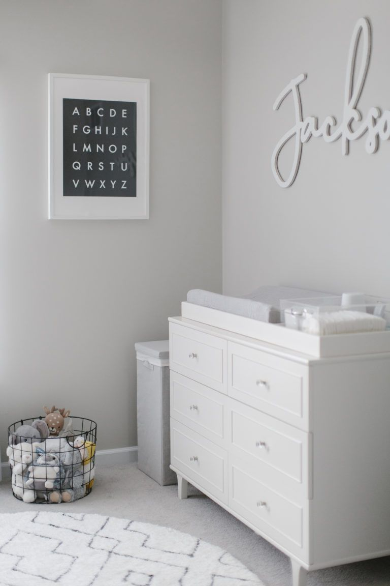 Modern Black And White Nursery Project Nursery In 2020 White