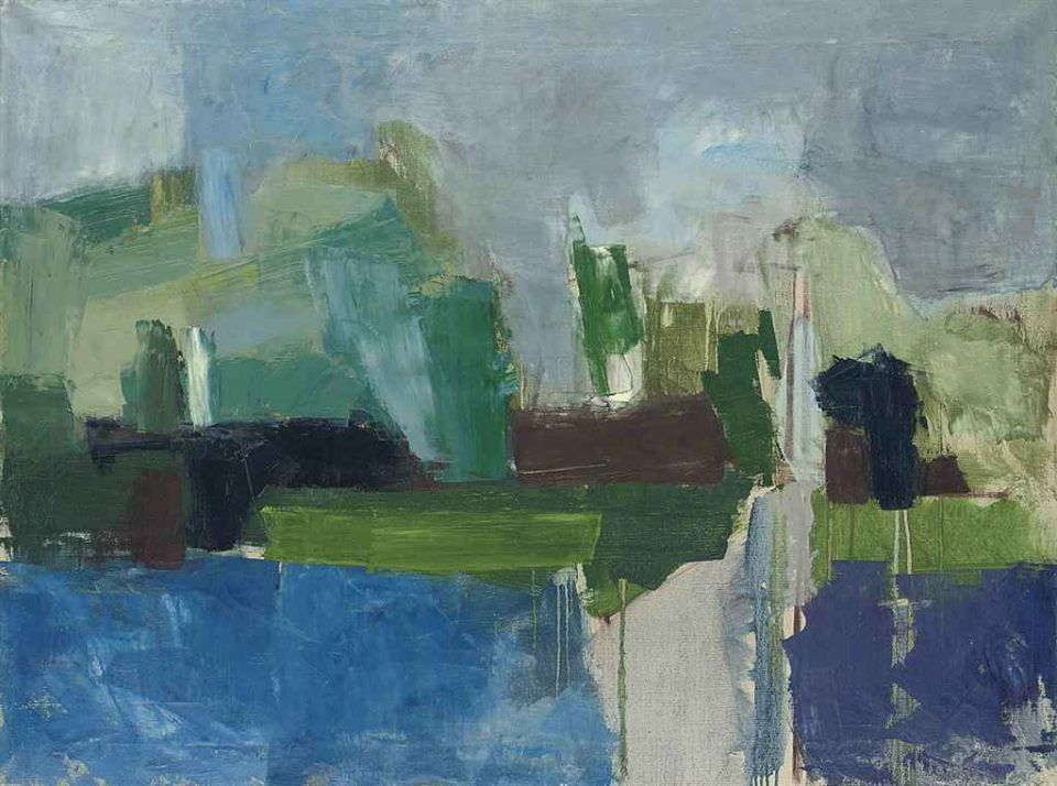 ARTISTIC QUIBBLE |   Peter Kinley (1926-1988) Green and Blue...