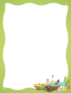 Spa border free printable pinterest spa note paper and planners free spa border templates including printable border paper and clip art versions file formats include gif jpg pdf and png maxwellsz