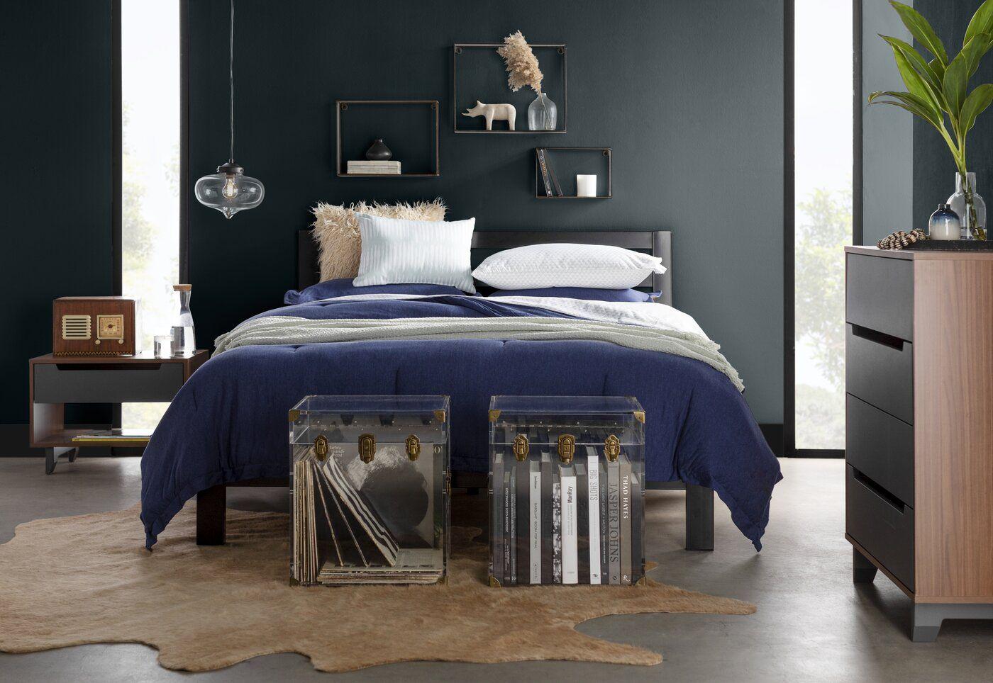 Avey Platform Bed Comforter sets, Platform bed, Bed