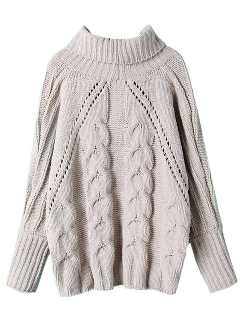 Oversized Sweater Love! Love the Oversized Cable Knit Pattern!Cream ...