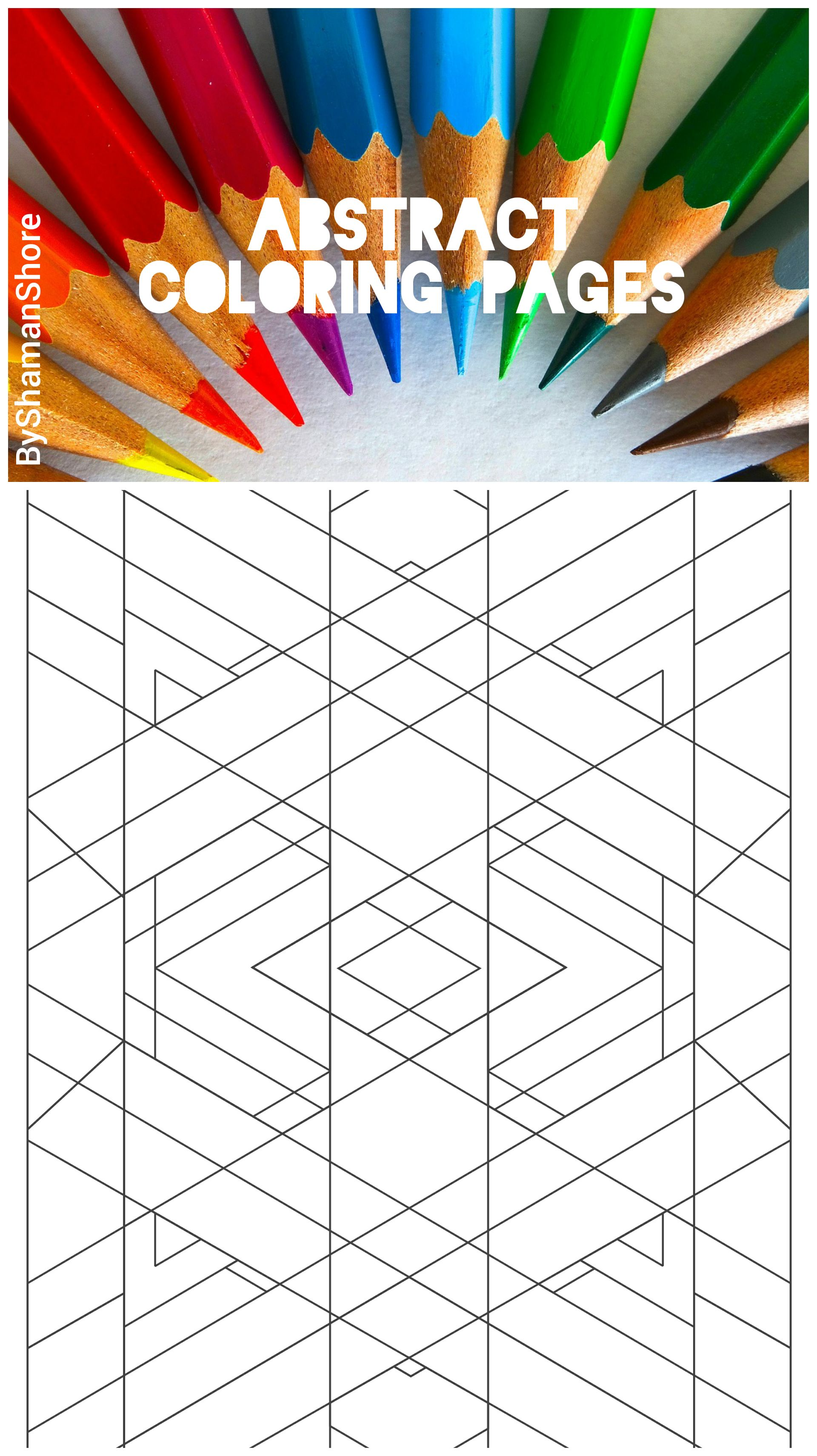 Adult Coloring Book Pdf, 15 Geometric Adult Coloring Pages